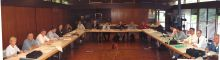 Panoramic view of the whole ICIAM Board, Zurich 2004.
